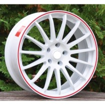 Racing Line RLM31 white with red line 15x6