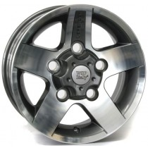 WSP Italy Hove 16x8 5x165 ET25 114 anthracite polished