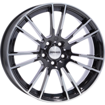 Monaco MC8 18x8 black polished