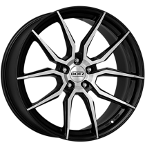 Dotz Misano dark 18x8 black polished