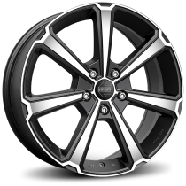 Momo Legend 17x7 matt black polished