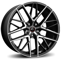 Momo RFX-01 21x9,5 matt black polished