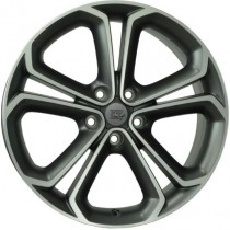 WSP Italy Onda 18x7,5 matt gun metal polished