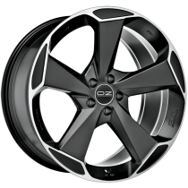 OZ Aspen HLT 20x9,5 Matt Black Diamond Cut