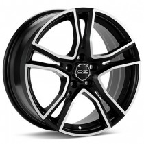 OZ Adrenalina 17x8 matt black diamond cut