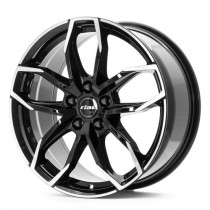 Rial Lucca 18x8 black polished