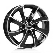 Rial Lugano 18x8 black polished