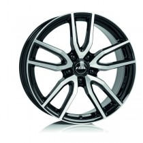 Rial Torino 18x8 black front polished