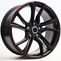 4Racing RK49 18x8,5 5/114,6 ET40 72,6 black/red