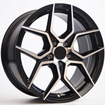 4Racing RK60 17x8 5/108 ET35 63,4 black polished TT1979