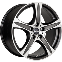 Ronal R55 SUV 18x8,5 matt black polished
