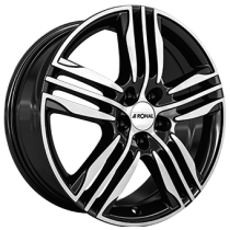 Ronal R57 17x7,5 shiny black polished