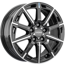 Ronal R60 blue 16x6,5 black polished