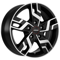 Ronal R64 17x7 black polished