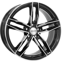 Monaco RR8M 17x7,5 black polished