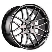 SAS Concave AV8 20x10 Black Polished-Inox Lip