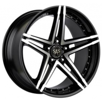 SAS Concave Twin 18x9 Black Polished