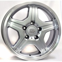 WSP Italy Matera W760 18x9,5 silver polished lip