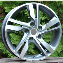 R Line HYXFA07 grey polished 15x6 5x114,3 ET45 67,1