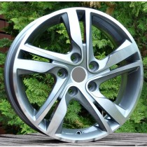 R Line HYXFA07 grey polished 16x6,5 5x114,3 ET45 67,1