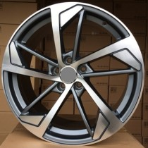 R Line AXFE139 anthracite polished 20x9 5x112 ET33 66,45