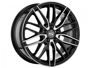 MSW 72 18x8 black full polished