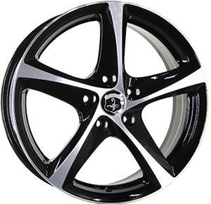 Inter Action Tornado 17x7 shiny black polished front