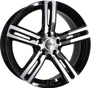 Inter Action kargin 18x8,5 shiny black polished front