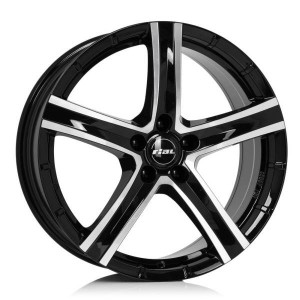 Rial Quinto 18x8 black front polished