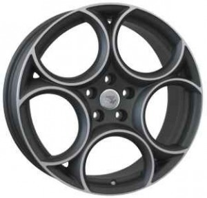 WSP Italy Zar 19x8 matt gun metal polished