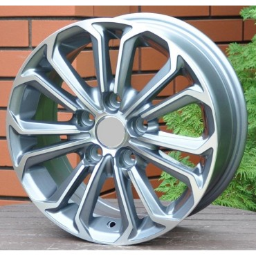 R Line TOBK667 grey polished 15x6,5 5x114,3 ET40 60,1